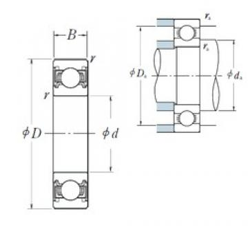 25 mm x 62 mm x 17 mm  NSK 6305VV deep groove ball bearings