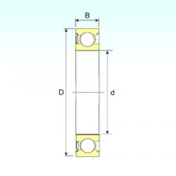 30 mm x 55 mm x 13 mm  ISB 6006-Z deep groove ball bearings