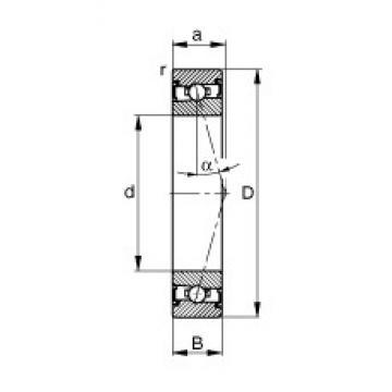 30 mm x 55 mm x 13 mm  FAG HSS7006-C-T-P4S angular contact ball bearings