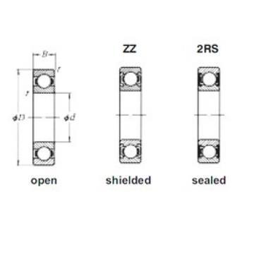 30 mm x 62 mm x 16 mm  Loyal 6206ZZ deep groove ball bearings