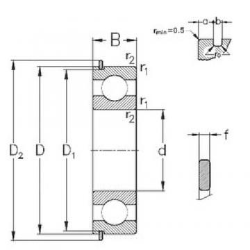 25 mm x 62 mm x 17 mm  NKE 6305-Z-N deep groove ball bearings