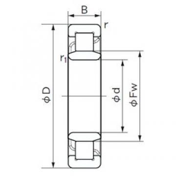 50 mm x 110 mm x 40 mm  NACHI NU 2310 E cylindrical roller bearings