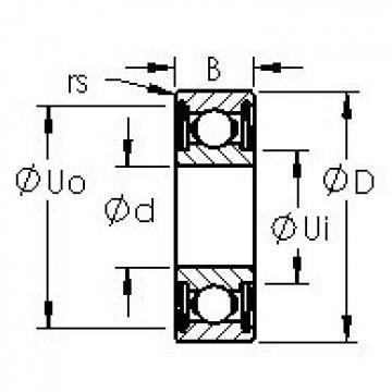 AST 6017ZZ deep groove ball bearings