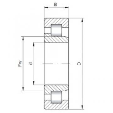 85 mm x 130 mm x 22 mm  Loyal NJ1017 cylindrical roller bearings