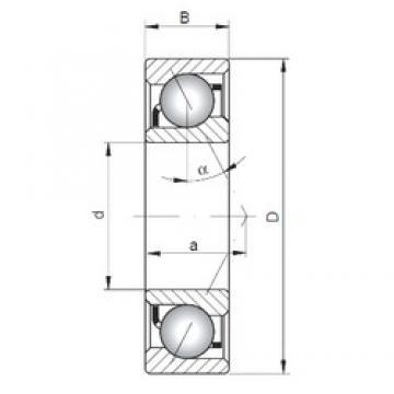 25 mm x 52 mm x 15 mm  ISO 7205 C angular contact ball bearings