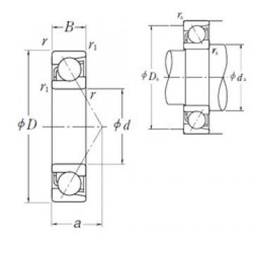 85 mm x 130 mm x 22 mm  NSK 7017 A angular contact ball bearings