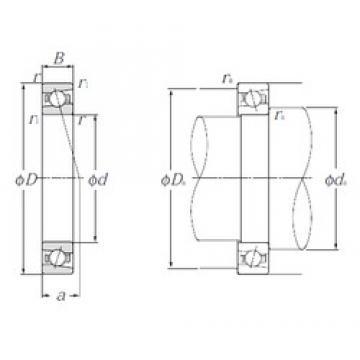85 mm x 130 mm x 22 mm  NTN 5S-HSB017C angular contact ball bearings