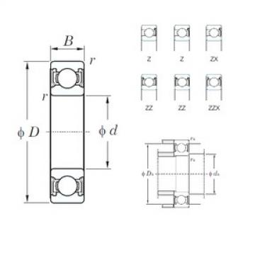 110 mm x 170 mm x 28 mm  KOYO 6022ZZX deep groove ball bearings