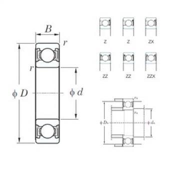 85 mm x 130 mm x 22 mm  KOYO 6017ZZ deep groove ball bearings