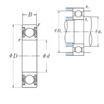 110 mm x 170 mm x 28 mm  NSK 6022ZZ deep groove ball bearings