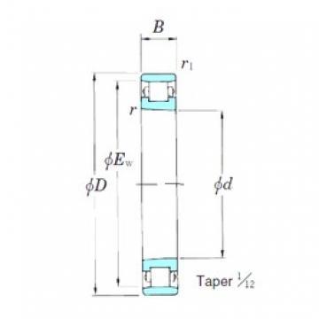 30 mm x 55 mm x 13 mm  KOYO N1006K cylindrical roller bearings
