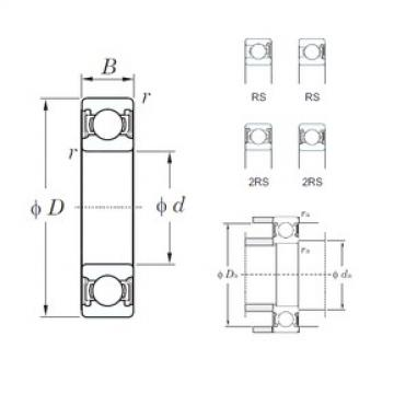 85 mm x 130 mm x 22 mm  KOYO 6017-2RS deep groove ball bearings