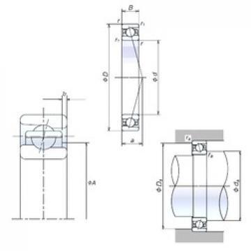 30 mm x 55 mm x 13 mm  NSK 30BER10X angular contact ball bearings
