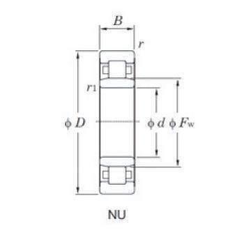 90 mm x 160 mm x 40 mm  KOYO NU2218R cylindrical roller bearings