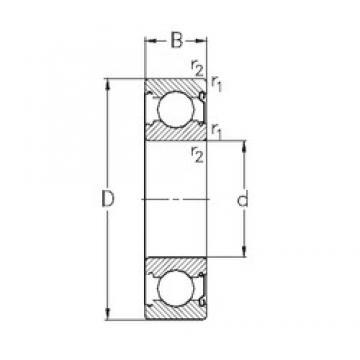 25 mm x 52 mm x 15 mm  NKE 6205-Z deep groove ball bearings
