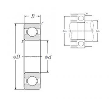 25 mm x 62 mm x 17 mm  NTN 6305 deep groove ball bearings
