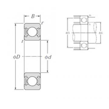 30 mm x 55 mm x 13 mm  NTN 6006LLU deep groove ball bearings