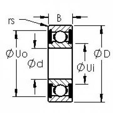 AST 6017-2RS deep groove ball bearings