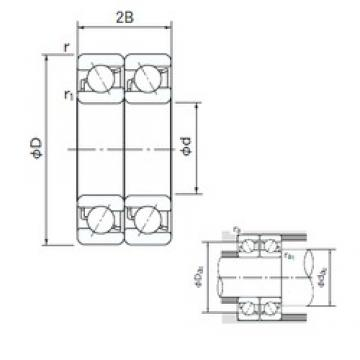 85 mm x 130 mm x 22 mm  NACHI 7017CDT angular contact ball bearings