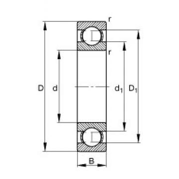 85 mm x 130 mm x 22 mm  FAG 6017 deep groove ball bearings