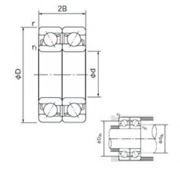 25 mm x 62 mm x 17 mm  NACHI 7305CDF angular contact ball bearings