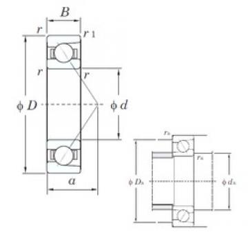 30 mm x 55 mm x 13 mm  KOYO HAR006C angular contact ball bearings