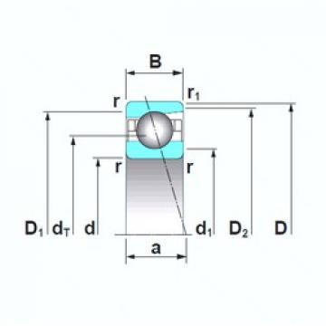 30 mm x 55 mm x 13 mm  NSK 7006A5TRSU angular contact ball bearings