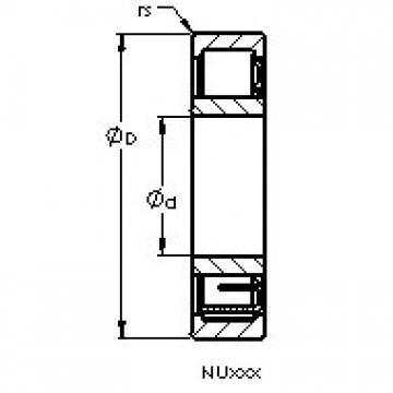 AST NU206 ETN cylindrical roller bearings