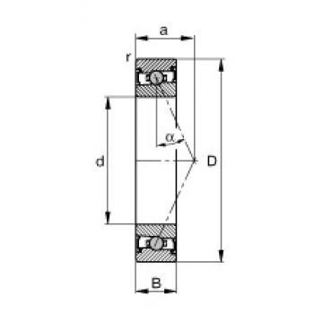 40 mm x 62 mm x 12 mm  FAG HCS71908-E-T-P4S angular contact ball bearings