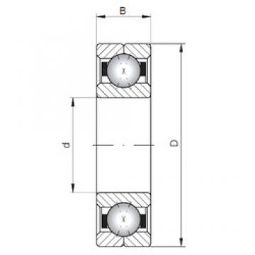 ISO Q1017 angular contact ball bearings