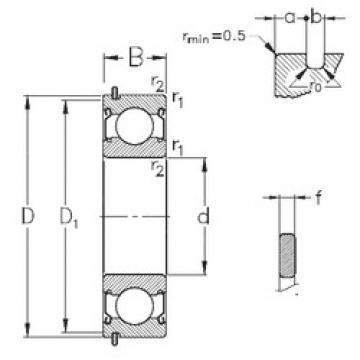 85 mm x 130 mm x 22 mm  NKE 6017-2Z-NR deep groove ball bearings