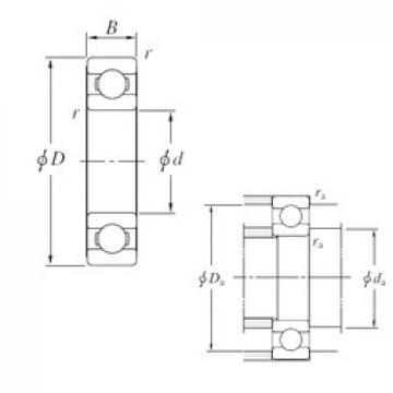 110 mm x 170 mm x 28 mm  KOYO 6022 deep groove ball bearings