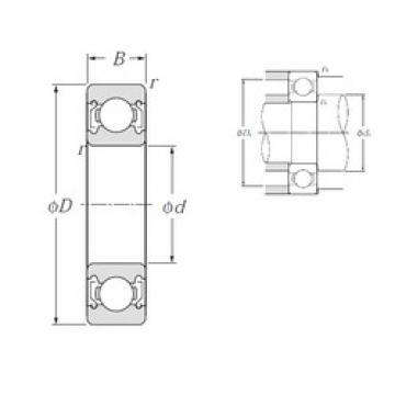 25 mm x 62 mm x 17 mm  NTN 6305ZZ deep groove ball bearings