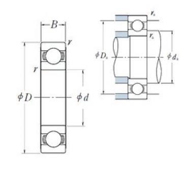 30 mm x 55 mm x 13 mm  NSK 6006 deep groove ball bearings