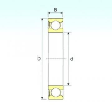 25 mm x 62 mm x 17 mm  ISB 6035-RS deep groove ball bearings