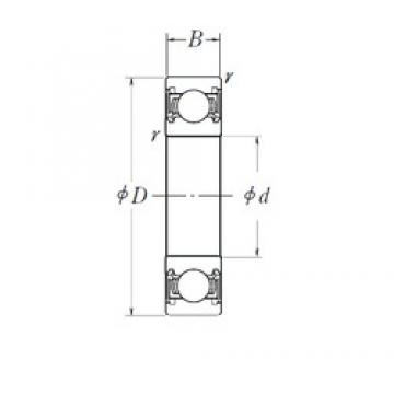 30 mm x 62 mm x 16 mm  NSK 6206A1DDAC5 deep groove ball bearings