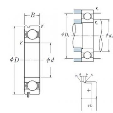 110 mm x 170 mm x 28 mm  NSK 6022N deep groove ball bearings