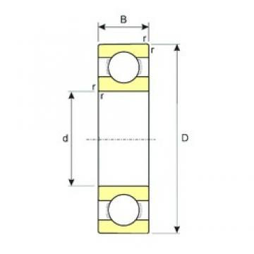 40 mm x 62 mm x 12 mm  ISB 61908 deep groove ball bearings
