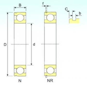 85 mm x 130 mm x 22 mm  ISB 6017 NR deep groove ball bearings