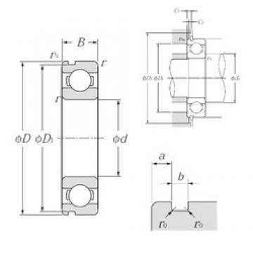 110 mm x 170 mm x 28 mm  NTN 6022N deep groove ball bearings