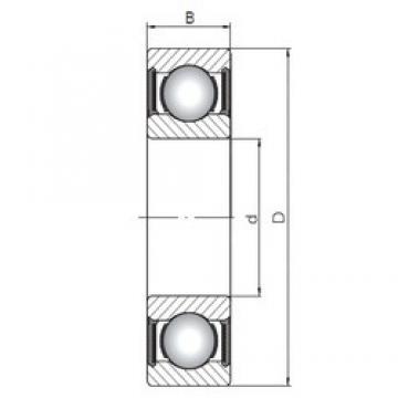 25 mm x 62 mm x 17 mm  Loyal 6305-2RS deep groove ball bearings