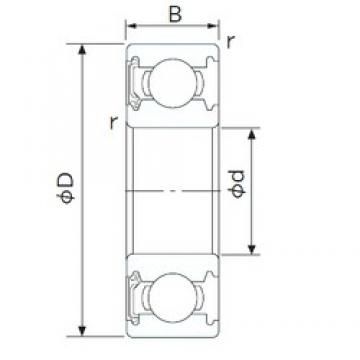 30 mm x 55 mm x 13 mm  CYSD 6006-RS deep groove ball bearings
