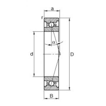 110 mm x 170 mm x 28 mm  FAG HS7022-C-T-P4S angular contact ball bearings