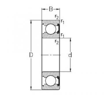 40 mm x 62 mm x 12 mm  NKE 61908-2RSR deep groove ball bearings
