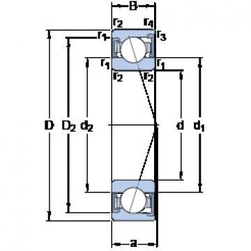 50 mm x 72 mm x 12 mm  SKF S71910 CD/P4A angular contact ball bearings