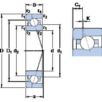85 mm x 130 mm x 22 mm  SKF 7017 CE/HCP4AH1 angular contact ball bearings