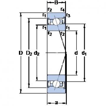50 mm x 72 mm x 12 mm  SKF S71910 ACB/HCP4A angular contact ball bearings