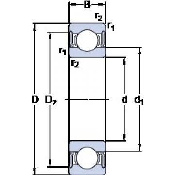 20 mm x 47 mm x 14 mm  SKF W 6204-2RS1 deep groove ball bearings