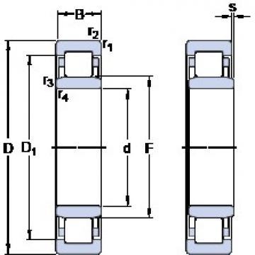 20 mm x 47 mm x 14 mm  SKF NU 204 ECML thrust ball bearings