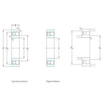 50 mm x 110 mm x 40 mm  SKF 2310 self aligning ball bearings
